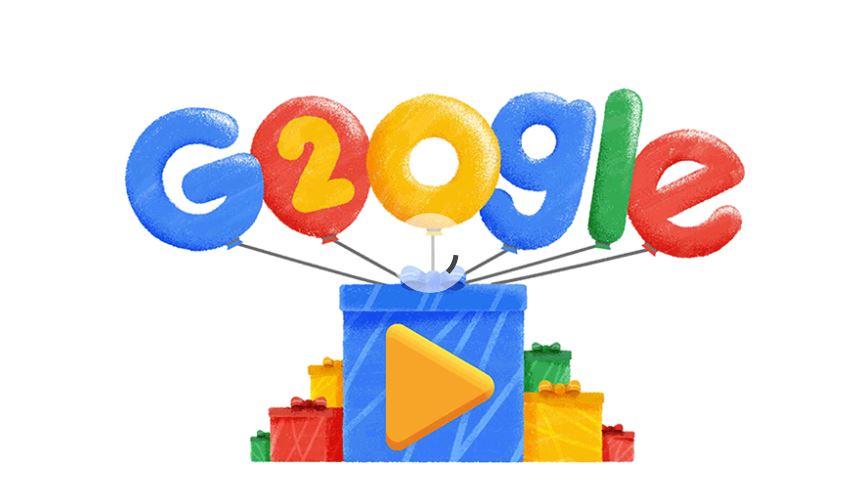 Oggi google compie 20 anni! Buon compleanno.